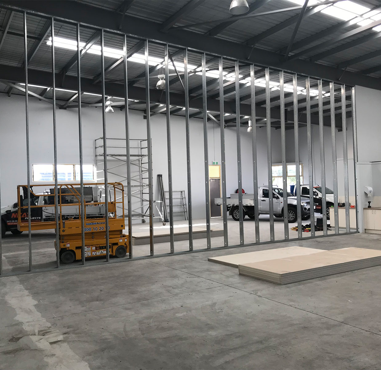 Warehouse Wall construction